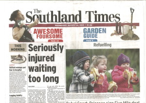 BusyBodies Cross Country in Southland Times Aug 2013